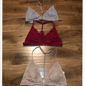 3 Victoria's Secret Lace Bralets